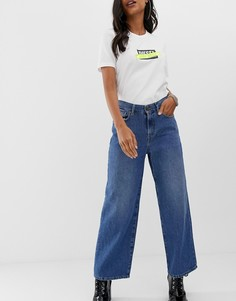Выбеленные джинсы с широкими штанинами Diesel-Синий