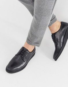 Черные кожаные дерби на толстой подошве WALK London Jimmy-Черный