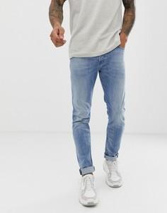 Светлые джинсы-морковки слим Diesel Tepphar 081AL-Синий