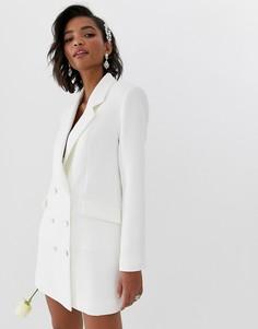 Свадебное платье-блейзер ASOS EDITION-Белый