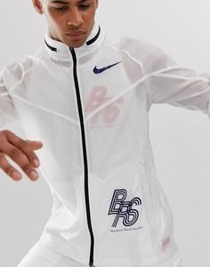 Белая спортивная куртка Nike Running BRS pack-Белый