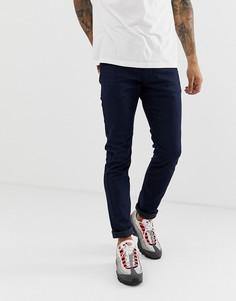 Темные эластичные джинсы слим Diesel Thommer 085AQ-Синий