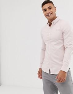 Розовая приталенная оксфордская рубашка Farah Brewer-Розовый