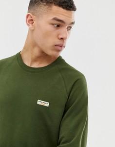 Базовый свитшот цвета хаки с логотипом Nudie Jeans Co - Samuel-Зеленый