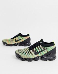 Черные/разноцветные кроссовки Nike Vapormax Flyknit 3.0-Мульти