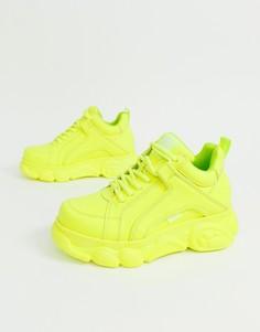 Ярко-желтые кроссовки на платформе Buffalo Corin-Желтый