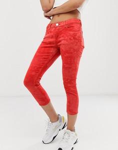 Оранжевые джинсы скинни с заниженной талией и принтом тай-дай ASOS DESIGN Whitby-Оранжевый