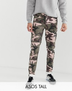Узкие джинсы с камуфляжным принтом ASOS DESIGN Tall-Зеленый