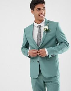 Зеленый приталенный пиджак Farah Henderson