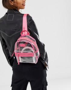 Прозрачный рюкзак с розовой отделкой HXTN-Очистить Spiral