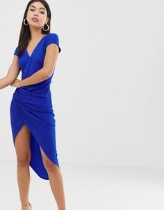 Платье-футляр с запахом AX Paris-Синий