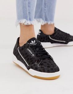 Черно-белые кроссовки adidas Originals Continental 80-Черный