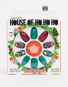 Новогодние наклейки для ногтей House of Holland x Elegant Touch-Мульти