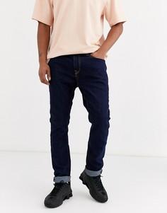 Темно-синие джинсы скинни Bershka-Синий