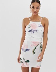 Платье мини на бретелях AX Paris-Кремовый