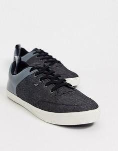 Синие кроссовки с комбинированной отделкой Boxfresh-Синий