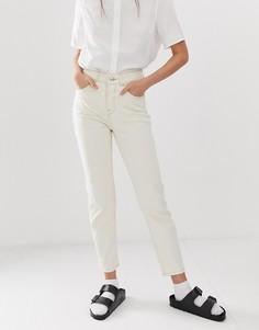 Светло-бежевые джинсы в винтажном стиле Selected Femme-Белый