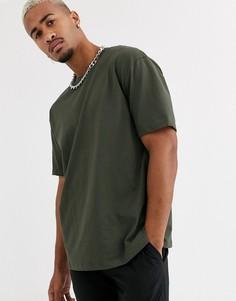 Свободная зеленая футболка Topman-Зеленый
