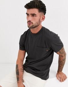 Черная выбеленная футболка свободного кроя Jack & Jones Originals-Черный