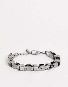 Матовый массивный браслет-цепочка ASOS DESIGN-Серый