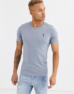 Серая футболка с круглым вырезом Religion-Серый