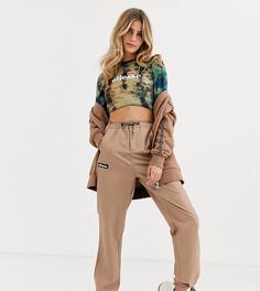 Спортивные штаны с геометрическим принтом и затяжками Ellesse-Коричневый