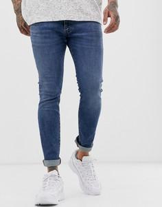 Синие джинсы скинни Wrangler Bryson-Синий