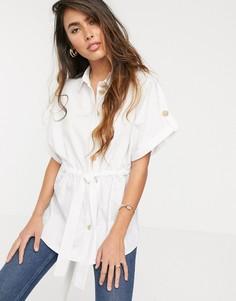 Белая приталенная рубашка River Island-Белый