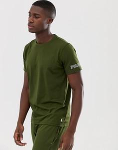 Хлопковая футболка с круглым вырезом и логотипом Polo RL на рукаве Polo Ralph Lauren-Зеленый