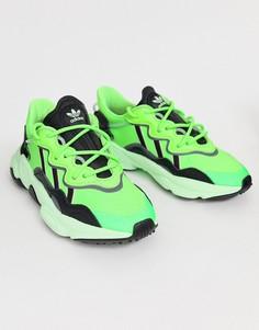 Зеленые кроссовки adidas Originals Ozweego-Зеленый
