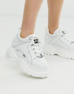 Белые классические низкие массивные кроссовки Buffalo London-Белый