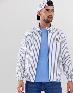 Оксфордская легкая куртка Харрингтон в полоску белого/синего цвета с нашивкой-эмблемой Polo Ralph Lauren - Bayport-Белый