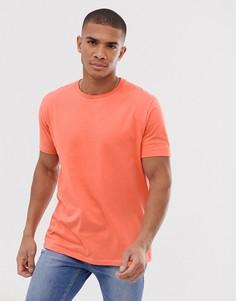 Оранжевая свободная футболка с круглым вырезом ASOS DESIGN-Оранжевый