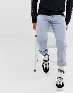 Выбеленные джинсы классического кроя ASOS DESIGN-Синий