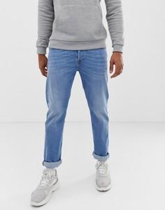 Светлые джинсы слим классического кроя Diesel Buster 087AQ-Синий