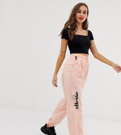 Спортивные штаны из переработанных материалов с логотипом сбоку и застежками-тогл Ellesse-Розовый