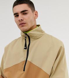 Непромокаемая куртка в стиле колор блок COLLUSION-Коричневый