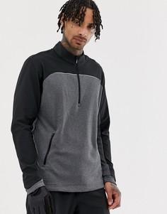 Серая куртка с воротом на молнии adidas Golf Go-To-Серый
