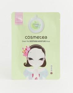 Успокаивающая маска-салфетка для лица с экстрактом зеленого чая Cosmetea-Бесцветный