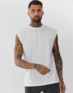 Белая удлиненная oversize-майка ASOS DESIGN-Белый