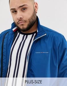 Темно-синяя нейлоновая куртка Харрингтон Tommy Hilfiger Big & Tall-Темно-синий