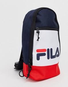 Рюкзак с одним ремешком (темно-синий/белый/красный) Fila Marlin-Мульти