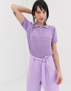 Трикотажное поло Gestuz Lisah-Фиолетовый