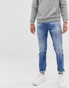 Светлые эластичные джинсы слим Diesel Thommer 081AS-Синий