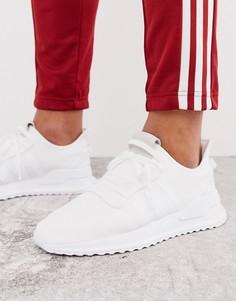 Белые кроссовки для бега adidas Originals U-path-Белый
