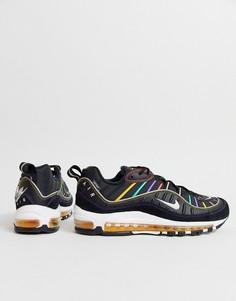 Черные кроссовки Nike Air Max 98-Белый