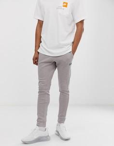 Коричневые меланжевые джоггеры с манжетами Nike-Коричневый