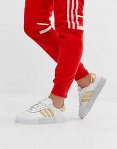 Золотисто-белые кроссовки adidas Originals-Белый