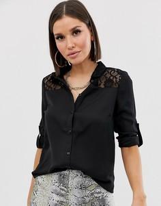 Кружевная рубашка Lipsy-Черный