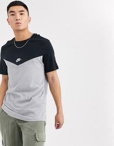Серая футболка с логотипом Nike-Серый
